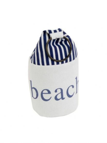 Canvas Beach Weighted Nautical Doorstop